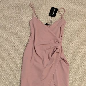 Pretty Little Thing Lauriell Rose Wrap Front Crepe